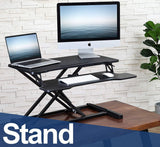 Jomla.ae مكتب FITUEYES Standing Desk 80cm Wide Tabletop