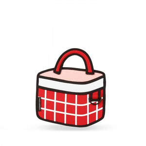 Jump from Paper Bags JUMP FROM PAPER Checked Handbag - Red 6.3 inch
