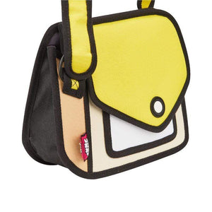 Jump from Paper Bags JUMP FROM PAPER Junior Giggle Shoulder Bag - Minion Yellow 6.3 inch