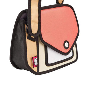 Jump from Paper Bags JUMP FROM PAPER Junior Giggle Shoulder Bag - Watermelon Red 6.3 inch
