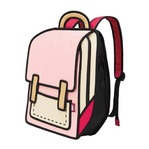 Jump from Paper Bags JUMP FROM PAPER Spaceman Backpack - Coo Coo Pink 13 inch