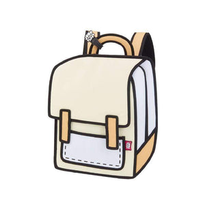 Jump from Paper Bags JUMP FROM PAPER Spaceman Backpack - Brown Rice 13 inch