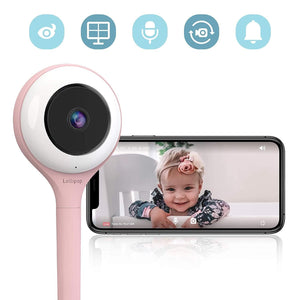 Lollipop Video Accessories LOLLIPOP HD WiFi Video Baby Monitor - Cotton Candy Pink