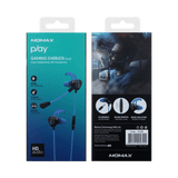 Momax HEADPHONES/BUDS MOMAX PLAY GAMING EARBUDS IN-EAR HEADPHONES WITH MICROPHONE BLUE