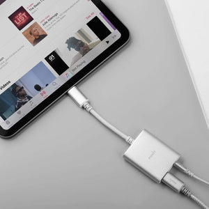 Moshi Power & Connectivity MOSHI USB C to 3.5 mm stereo jack adapter Silver