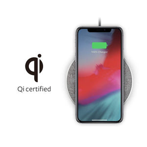 Moshi Power & Connectivity Moshi Otto Q Wireless Charger Pad, Qi Certified Wireless Charger with Anti-Slip Rubber Base