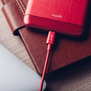 Moshi Power & Connectivity MOSHI Integra USB-A Charge / Sync Cable With Lightning Connector - Crimson Red