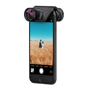 Olloclip Mobile Photography OLLOCLIP 3-In-1 Lens With Pendant And Stand Black / Black for iPhone 8-7/8-7 Plus