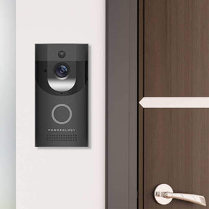 Powerology جرس باب ذكي  Powerology Smart Video Doorbell - أسود