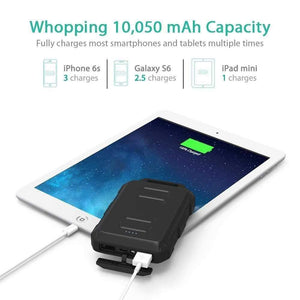 Ravpower Powerbank باور بانك راڤ باور مضاد للصدمات مضاد للماء 10050 ميلي امبير