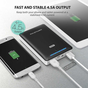 Ravpower Powerbank باور بنك راڤ باور بكشاف داخلي 16750 ميلي امبير - اسود