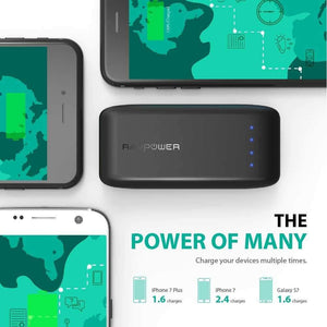 Ravpower Powerbank راڤ باور - باور بانك 6700 ميلي امبير بتقنيه ismart- أسود
