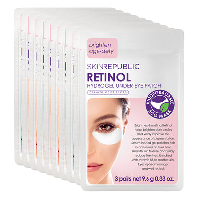10 Pack Retinol Biodegradable Hydrogel Under Eye Patch (3 Pairs)