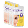 10 Pack Collagen Infusion Biodegradable Face Mask Sheet