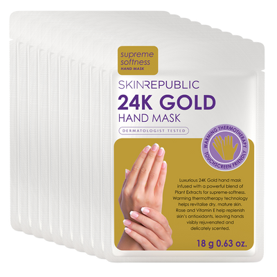 10 Pack 24K Gold Hand Mask
