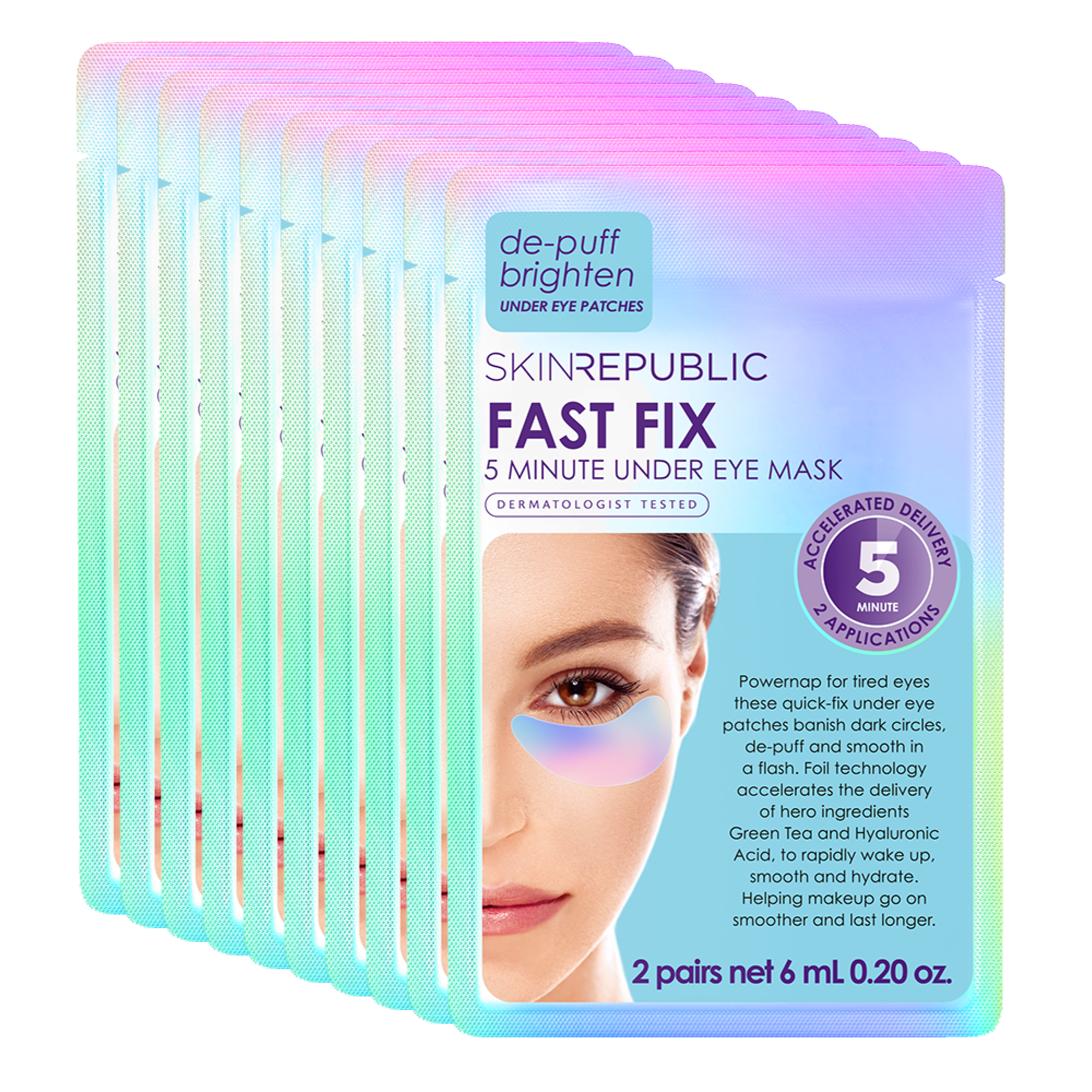 10 Pack Fast Fix 5 Minute Under Eye Mask (2 Pairs)