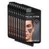 10 Pack Facial Scrub + Charcoal for Men (5 Applications)