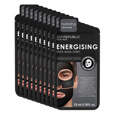 10 Pack Energising Face Mask Sheet for Men