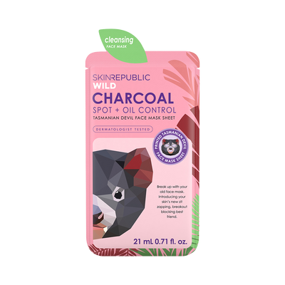 Charcoal Spot + Oil Control Tasmanian Devil Face Mask Sheet