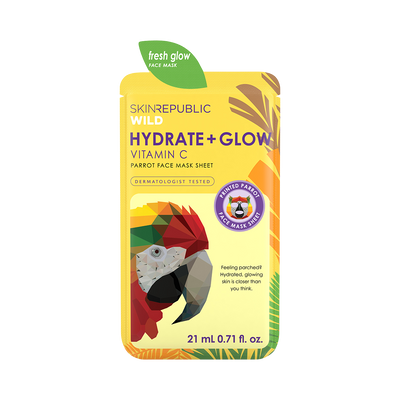 Hydrate + Glow Vitamin C Parrot Face Mask Sheet