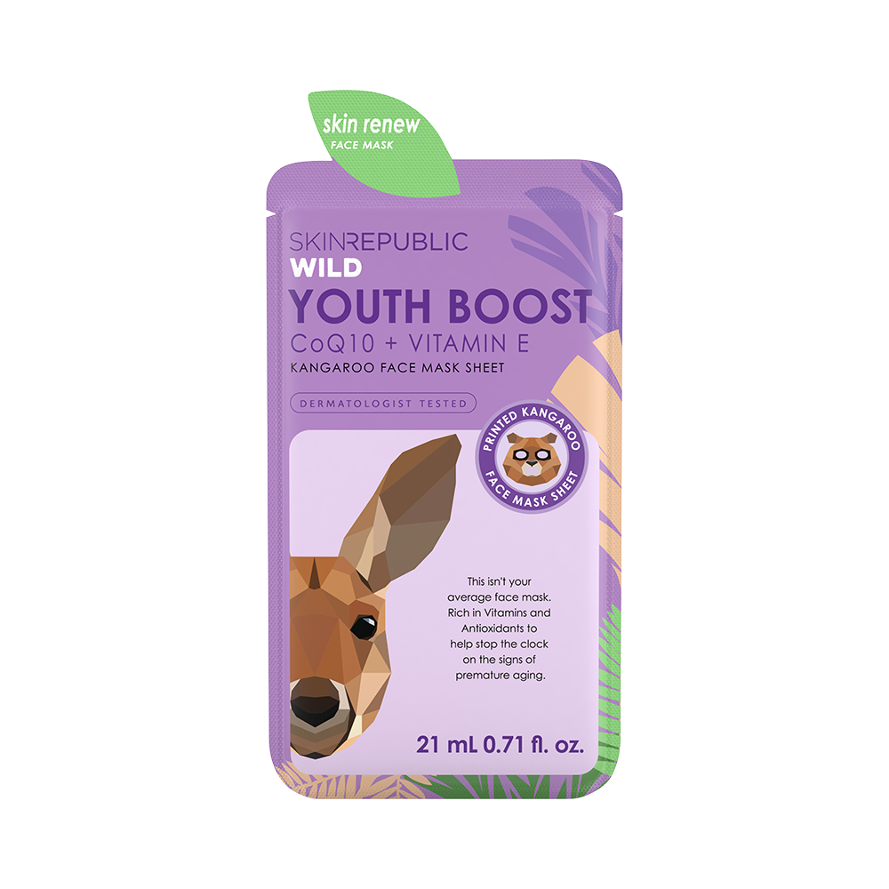 Youth Boost Kangaroo Face Mask Sheet