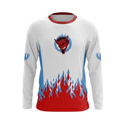 Demonic White Long Sleeve Jersey