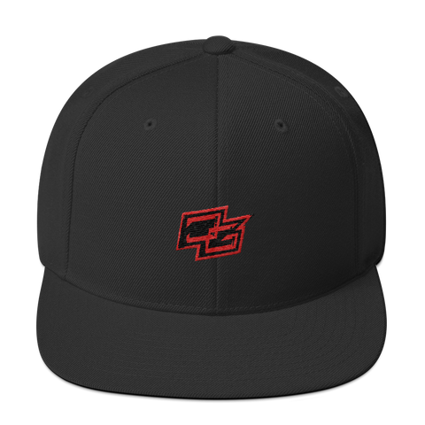 Demented Black/Red Snapback
