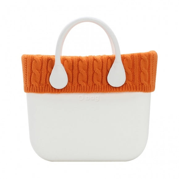 טופ צמר סרוג לתיק o bag mini צבע כתום -KNIT WOOL TRIM ORANGE