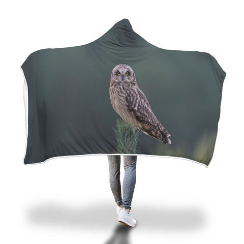 Hooded Owl Blanket-Quirky Owl