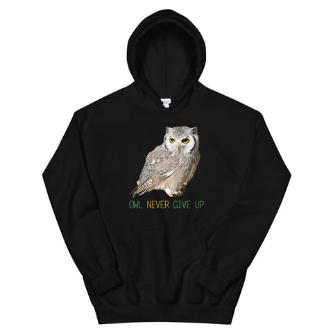 Owl Hoodie-Owl Never Give Up