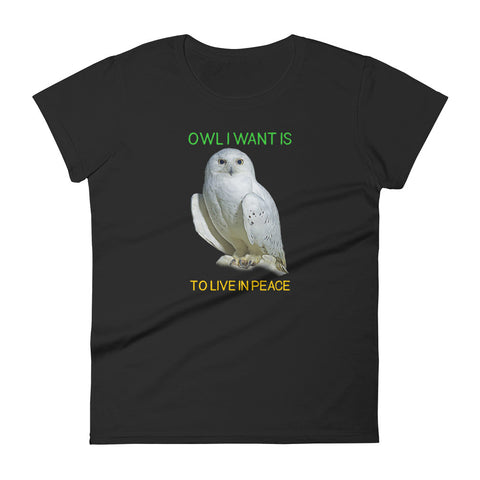 Owl Shirts for Women-Owl I Want