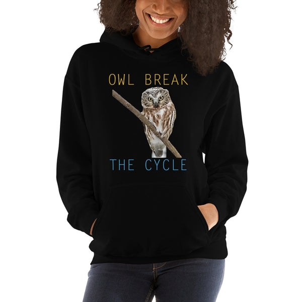 Owl Hoodie-Owl Break The Cycle