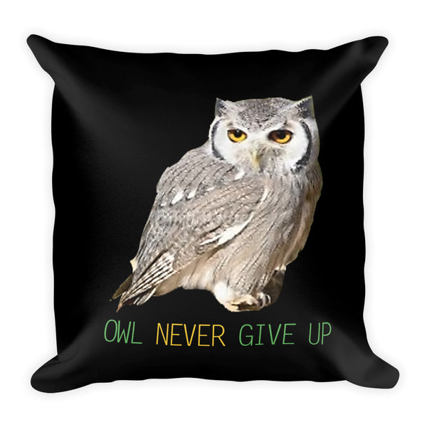 Owl Pillows-Owl Never Give Up