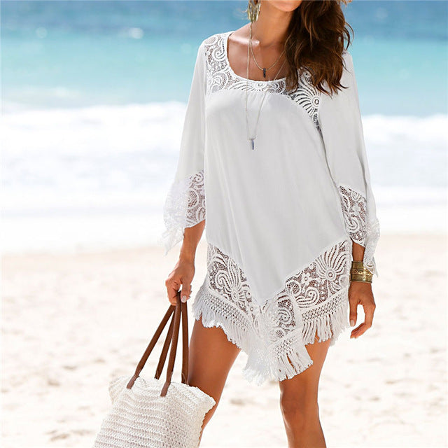 White Lace Cover Ups