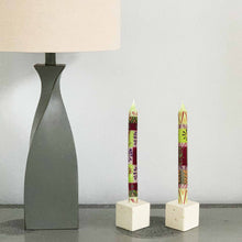 Load image into Gallery viewer, Hand Painted Candles in Kileo Design (three tapers) - Nobunto