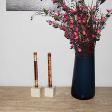 Load image into Gallery viewer, Tall Hand Painted Candles - Pair - Akono Design - Nobunto