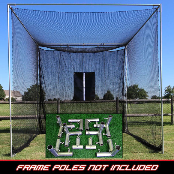 Cal Golf Star Cimarron Masters Golf Net with Frame Corners 10 x 10 x 10 - Golf Net