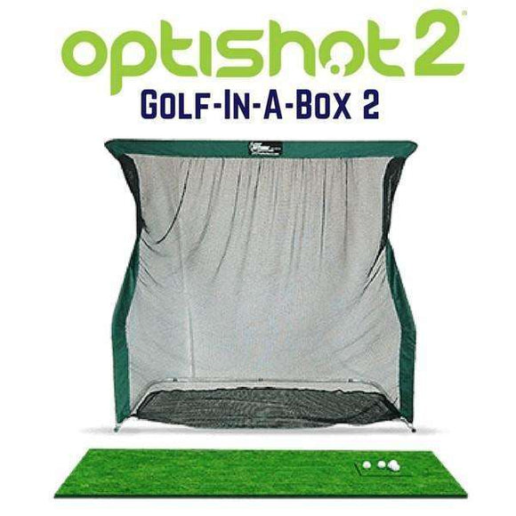 Cal Golf Star OptiShot Golf-In-A-Box 2 Indoor Golf Simulator Package  - Simulator