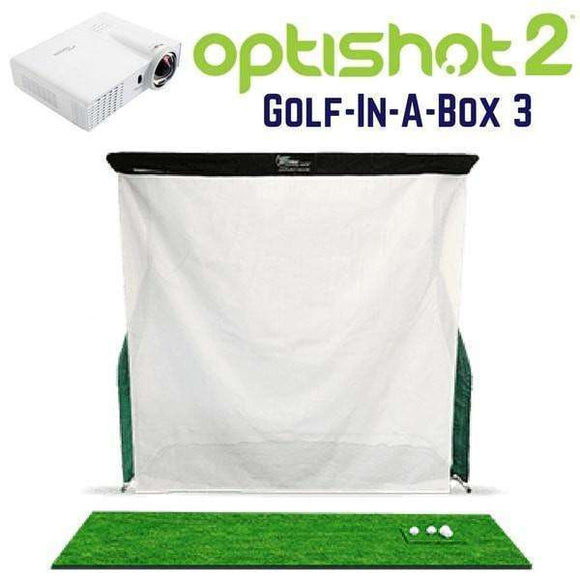 Cal Golf Star OptiShot Golf-In-A-Box 3 Home Golf Simulator Package  - Simulator