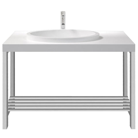 Metro Offset Oval Basin with Console Stand