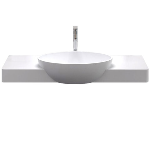 Metro Floating Wall Hung Oval Basin