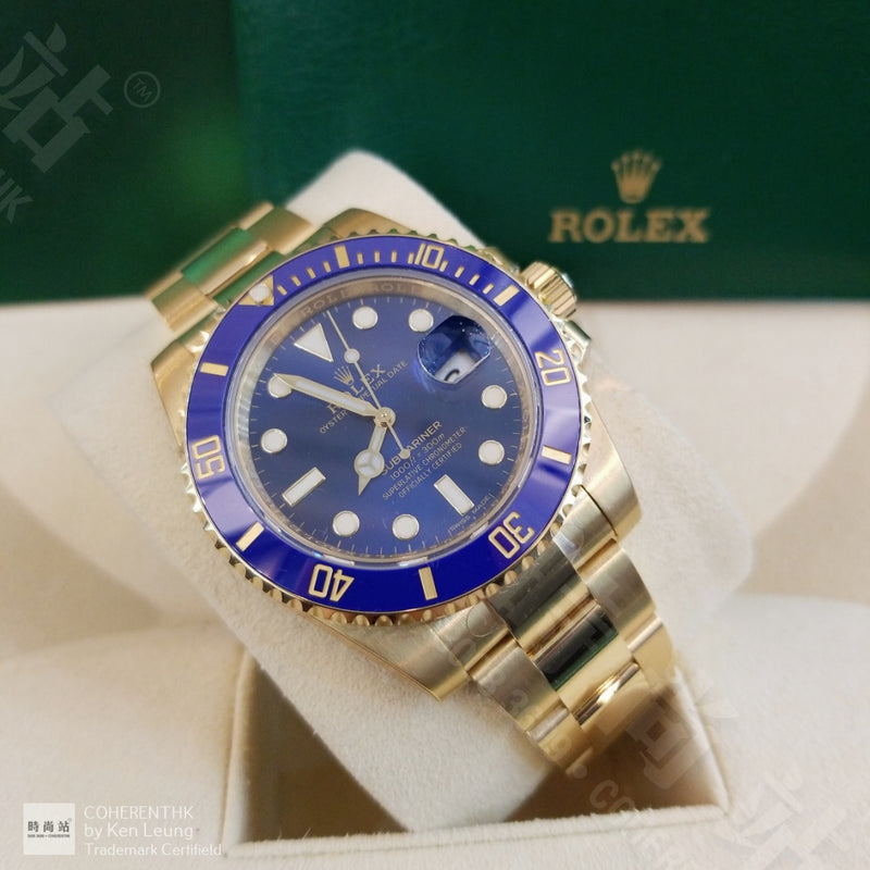 Buy NEW ROLEX M116618LB-0003 SUBMARINER DATE (116618LB) easily and safely on Coherenthk. Hong Kong leading Watch Shop. Located in Tsim Sha Tsui.