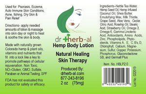 Hemp Label for DrHerb-al oil