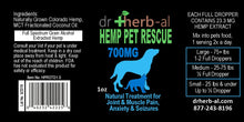 Load image into Gallery viewer, Hemp Label for DrHerb-al lip balm shop Denver natural medicine pet medicine
