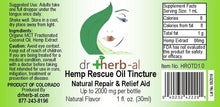 Load image into Gallery viewer, Hemp Rescue Oil Tincture [High Potency] | [2000mg Hemp (1oz)]