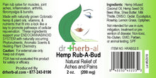 Load image into Gallery viewer, Hemp Rub A Bud [200mg Hemp (2oz)]