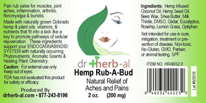 Hemp Rub A Bud [200mg Hemp (2oz)]