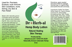 Hemp Lotion large CBD healing creme organic natural cruelty-free Shop colorado LABEL