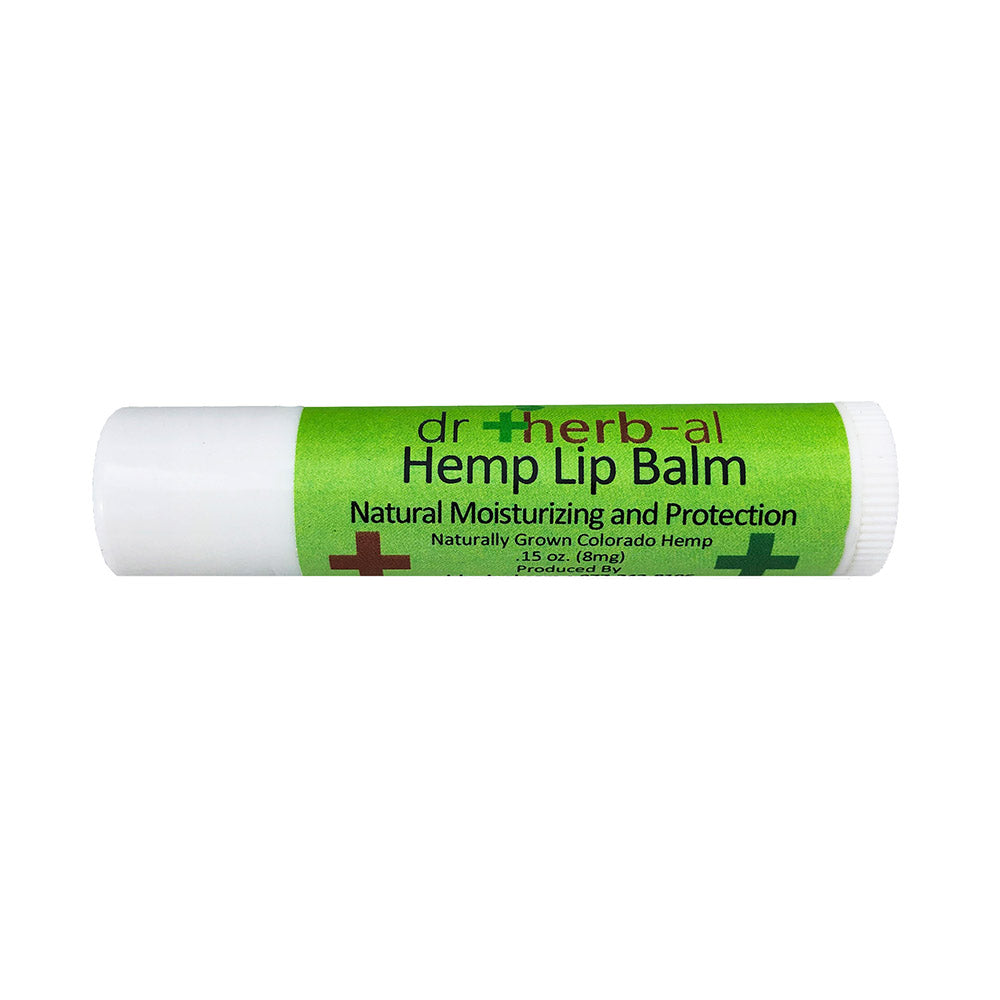 Hemp CBD lip Balm from DrHerb-al - moisturize lips naturally cruelty free