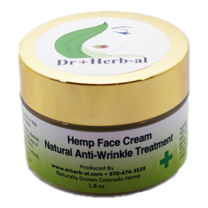Hemp CBD face creme lotion wrinkle treatment luxury natural organic cruelty free Wild West weed and seed front image